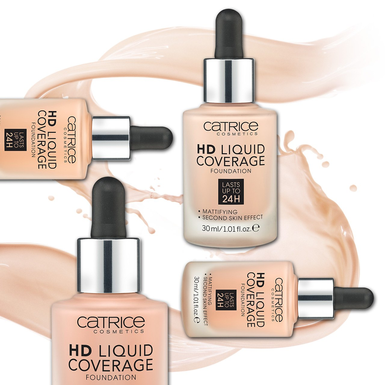 Catrice основа тональная hd liquid coverage foundation